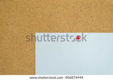 White paper on board