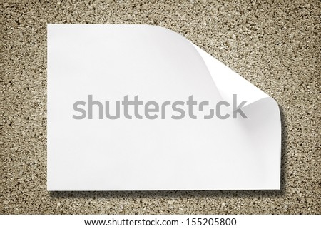 White paper on cement background with shadow - stock photo