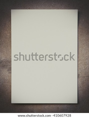White paper on Gray background isolated,gray cement background
