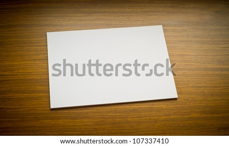 white paper on table - stock photo