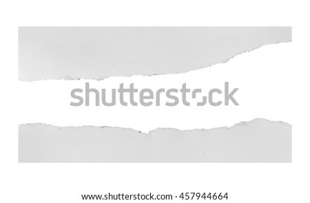white paper on white background with clipping path - stock photo