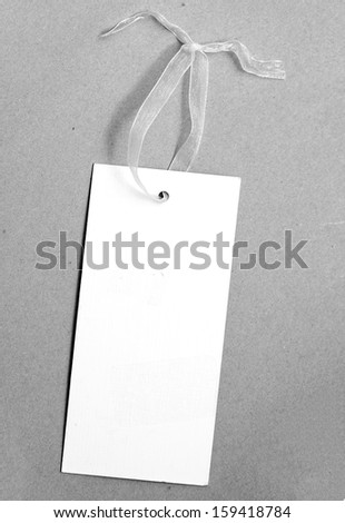 White paper tag - stock photo