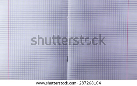 White paper textbook open in center with cubes and boxes - stock photo