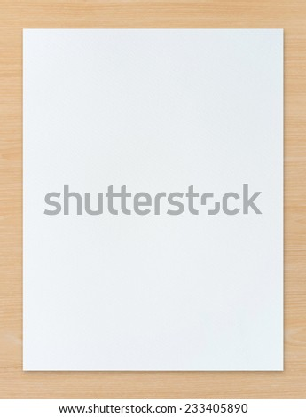 White paper texture background on wood. Abstract background for painting, drawing and sketching. - stock photo