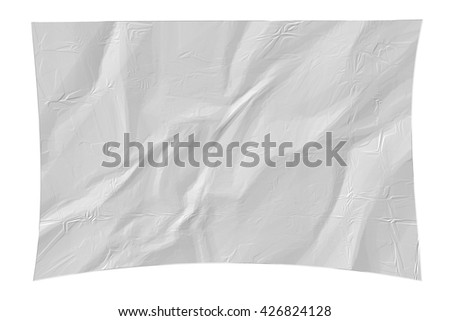 White paper texture with crease on white background