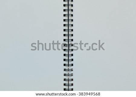 White paper with black binder for background