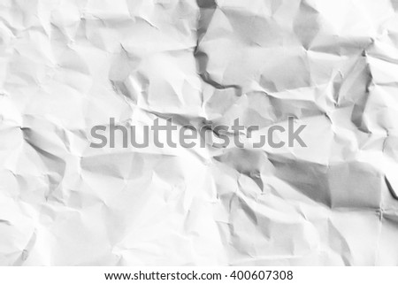 White paper wrinkled   - stock photo