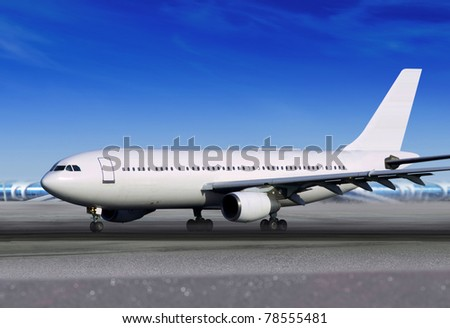 white passenger aircraft on runway of airport
