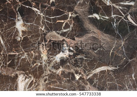 White patterned detailed structure of dark brown marble texture for interior, product and other design. abstract background.