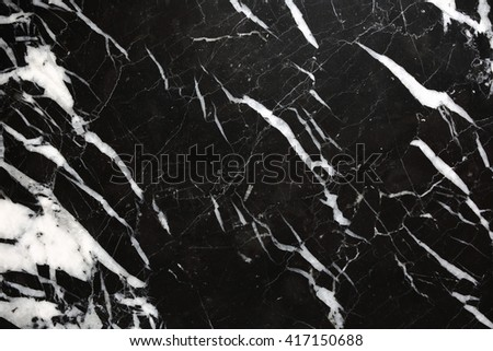 White patterned natural of black marble for background and design. - stock photo
