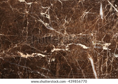 White patterned natural of dark brown marble pattern texture for design. Abstract marble background. - stock photo