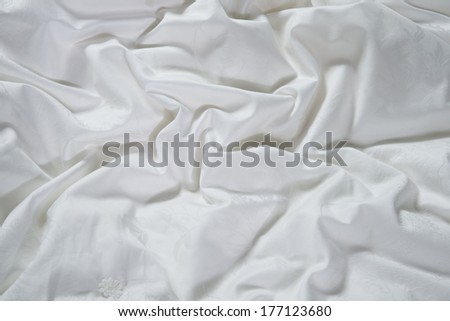 white patterned silk closeup