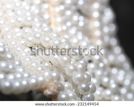 White Pearl Bead - stock photo