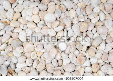 White Pebble stones background - stock photo
