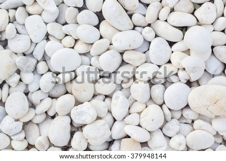 White pebbles background - stock photo