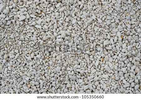 White Pebbles Texture - stock photo