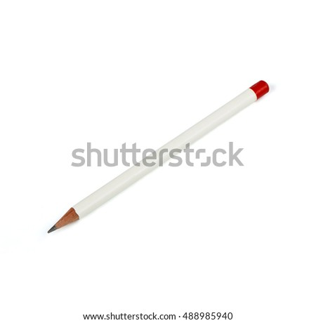 White pencil on a white background
