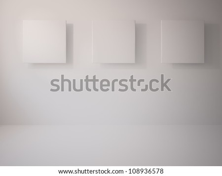 white pictures - stock photo