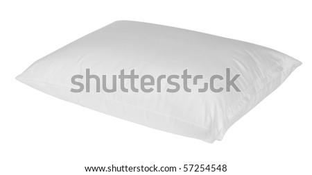White pillow. Isolated - stock photo