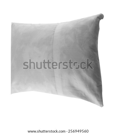 white pillow isolated on white background