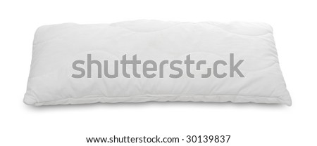 White pillow on a white background.