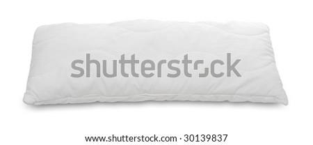White pillow on a white background. - stock photo