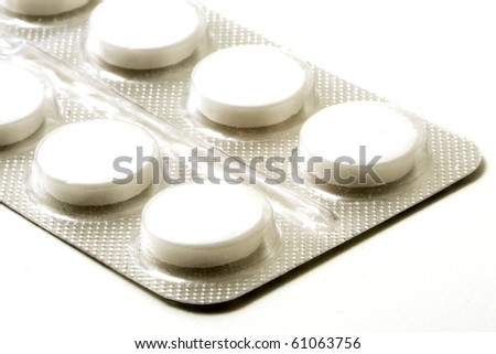 white pills in a silver pack