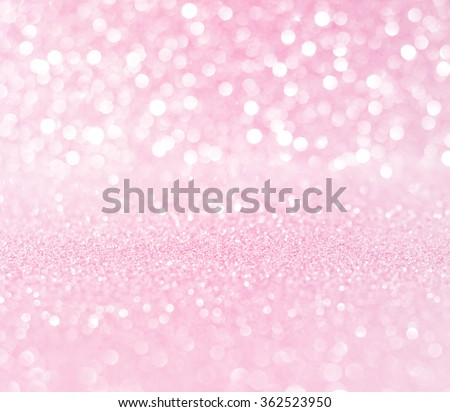 white pink glitter bokeh texture christmas abstract background - stock photo
