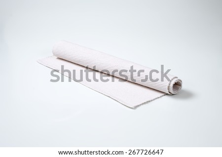 white place mat on white background