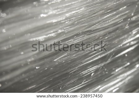white plastic background rotate - stock photo