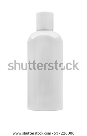white Plastic bottle use for  soap or shampoo and cosmetic isolated on white background