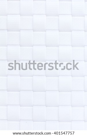 White plastic weaving pattern texture and background seamless