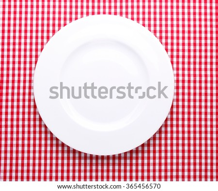 white plate on a beautiful background