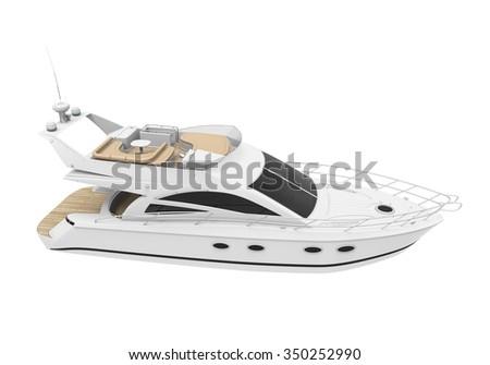White Pleasure Yacht - stock photo