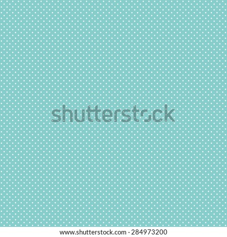 White Polka Dot Pattern on Turquoise Background - stock photo