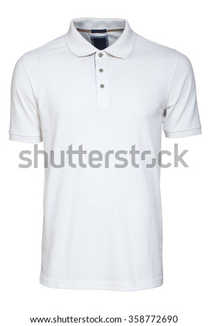 White Polo Shirt - stock photo