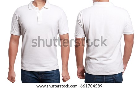 White polo tshirt mock up front stock photo 661704589 for White t shirt mockup