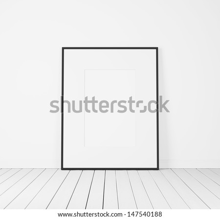 white poster - stock photo