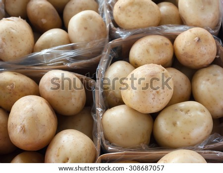 white potatoes in basket
