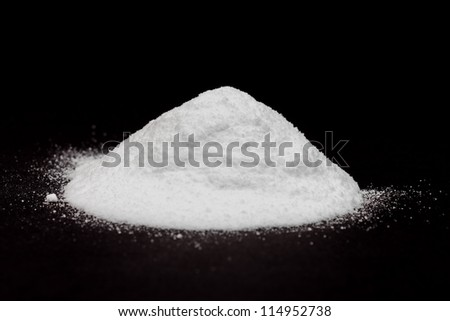 White powder - cocaine - stock photo