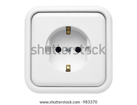 White Power Outlet w/ Path