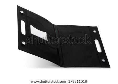 white product lock design business pocket flat envelope brief carton document hanger information folder handle holder isolated  - stock photo