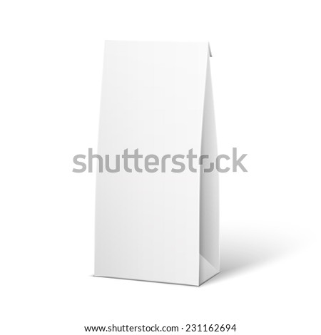 White Product Package Box Illustration Isolated On White Background. Product Packing   - stock photo