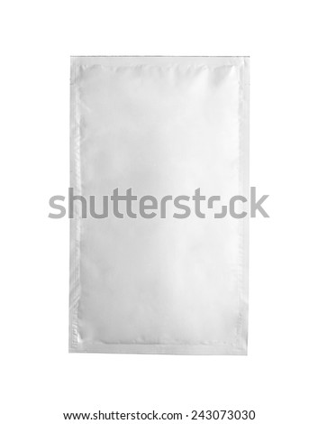 White product packaging on white background  - stock photo