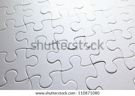 white puzzle - stock photo