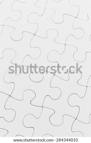 White puzzle background - stock photo