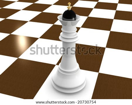 white queen. 3d chess  game
