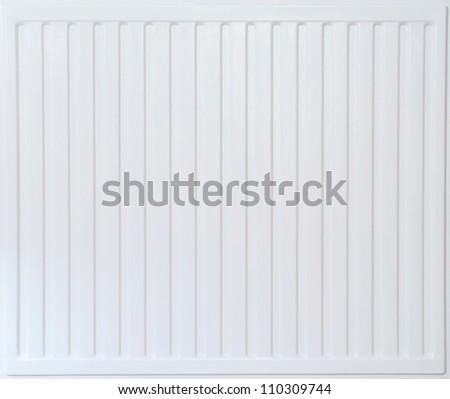 White radiator texture for background - stock photo