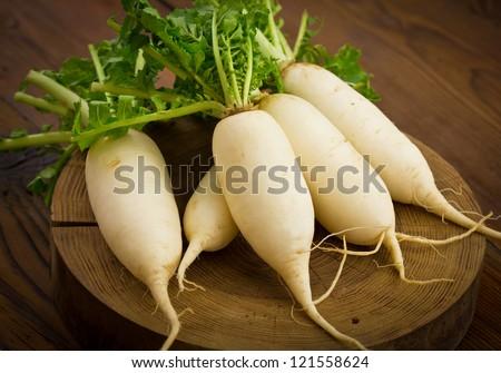White radish - stock photo