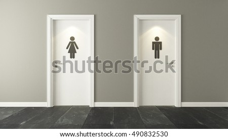 white restroom doors with wall 3D design and rendering for your project by Sedat SEVEN & Office Washroom Stock Images Royalty-Free Images u0026 Vectors ... pezcame.com